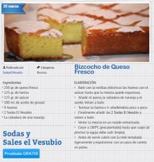Recetas bizcochos Sodas El Vesubio