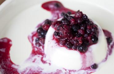 Mixed berries panacotta