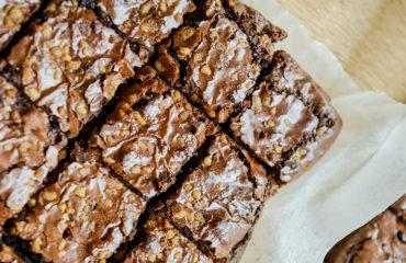 Receta postre fácil El Vesubio: Brownie de castañas