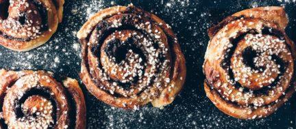 Receta El Vesubio: Cinnamon Rolls con bicarbonato de sodio