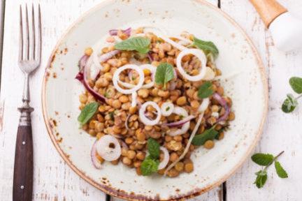 Receta El Vesubio: Ensalada de verano de lentejas