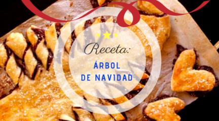 Receta Navidad El Vesubio: Árbol de hojaldre y nutella