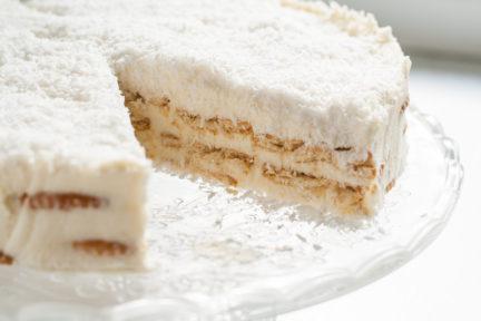 Receta El Vesubio: Tarta de coco con leche condensada
