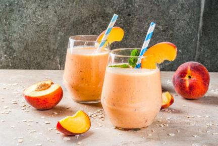 Receta El Vesubio: Smoothie de melocotón y mango