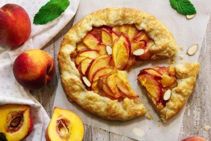 Receta El Vesubio: Tarta de nectarinas