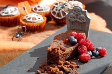 Receta El Vesubio: Brownies de ataúd de chocolate y mazapán