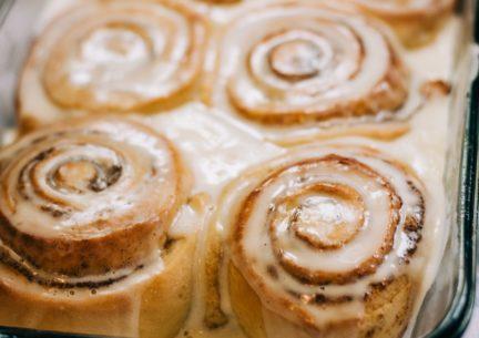 Receta El Vesubio: Rollos o cinnamon rolls de canela y calabaza