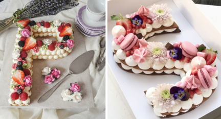 Receta El Vesubio: Cómo hacer Tarta letra de galleta y trufa de chocolate blanco