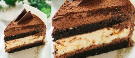 Receta El Vesubio: Tarta de chocolate con nata, muy esponjosa